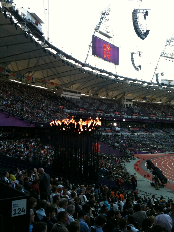 Olympic Flame in Stadium