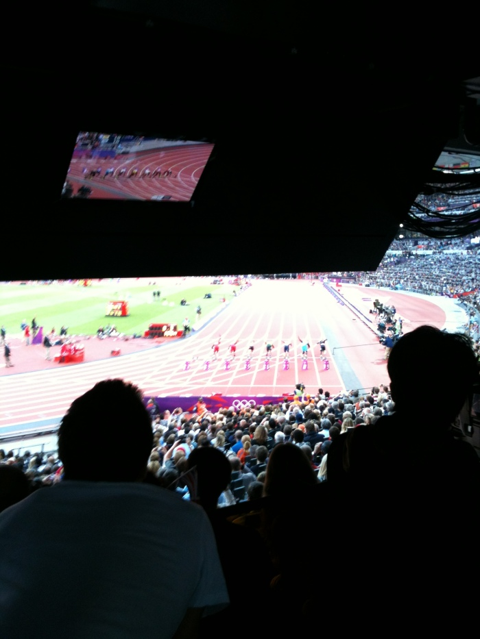 Start of 100m semi final