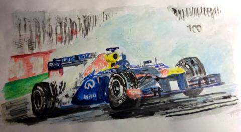 IV: Vettel's Victorious Donuts, watercolours