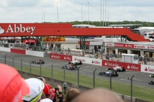 View from the grid, Silverstone 2009