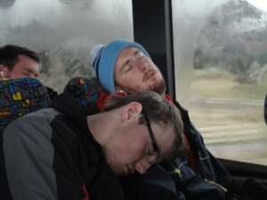 Sleepy on the bus home!