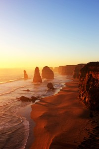 Sunset at the Twelve Apostles on the Great Ocean Road between Adelaide and Melbourne