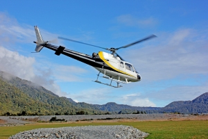 Flying up to the Franz Josef glacier - my first time in a helicopter