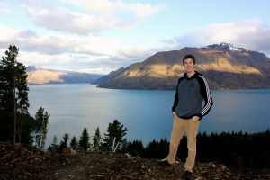Standing above Queenstown