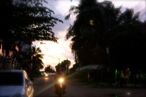 Motorbike at dusk