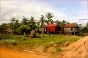 The drive out of Sihanoukville up north