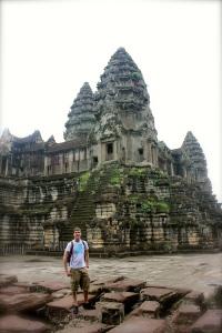 Posing at Angkor Wat
