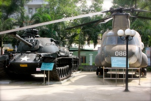 U.S. Tanks and Helicopters in the Courtyard