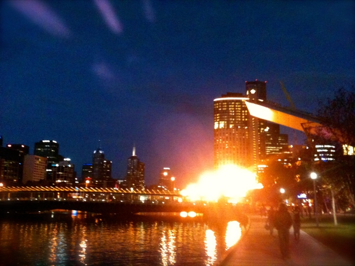 The famous south bank flames