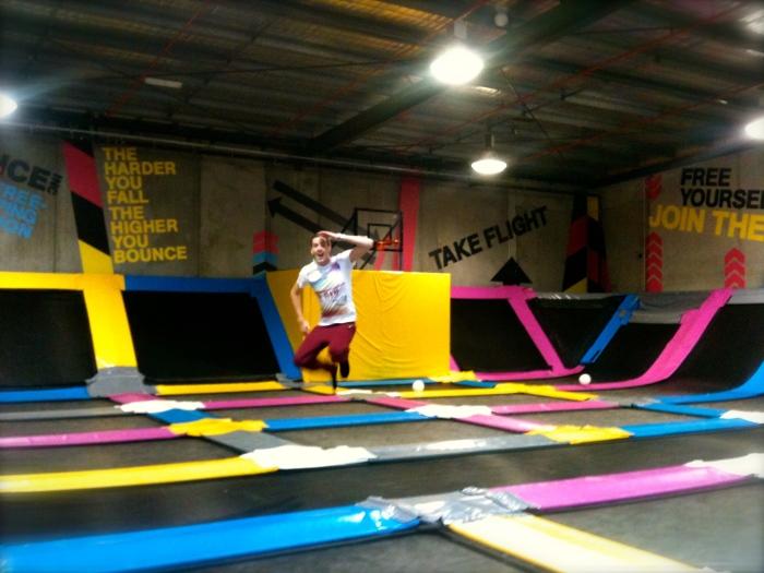 Bounce! A trampoline fun house