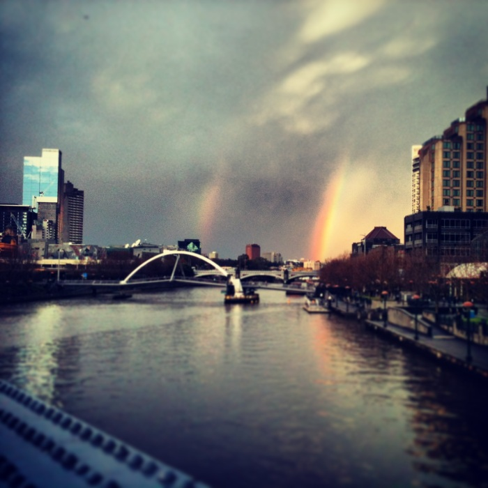 Double rainbows on our last day - they're surprisingly common in Melbourne