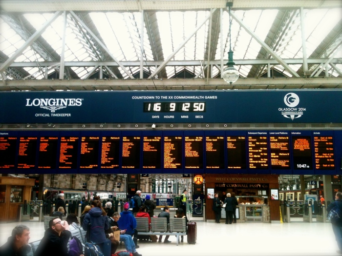 Glasgow Central Station Countdown Clock