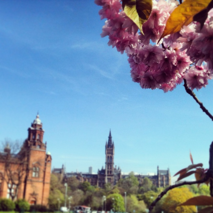 View across to Glasgow University