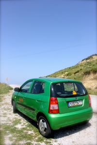 Our Kia Picanto up Mt Dikeos