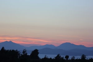Sunset over Kos and the Greek islands