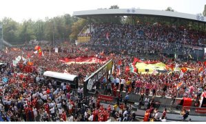 The famous tifosi at Monza