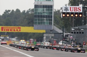 The start of the Italian Grand Prix
