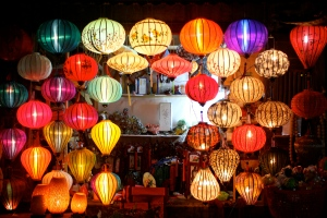 Beautiful lanterns on Vietnamese Independence Day