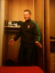 Will's AC Milan tracksuit!