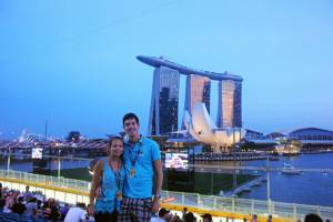 Our seats opposite Marina Bay Sands