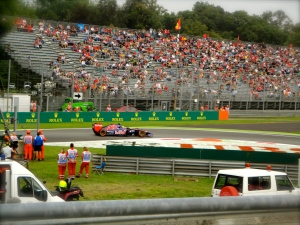 The view from the first chicane at Monza
