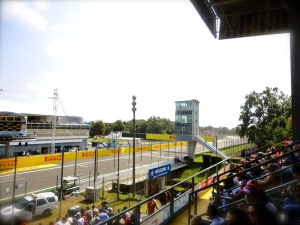 The view from our grandstand