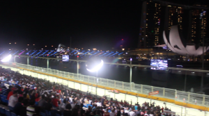Our view from the Bay Grandstand