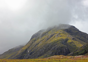 Clouds over the moody Glencoe