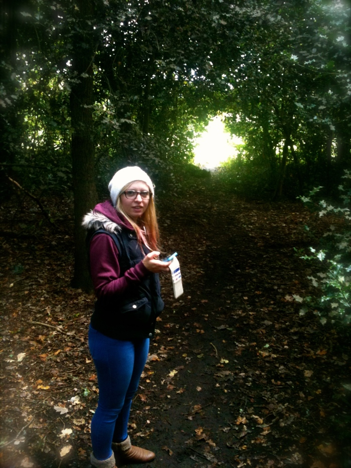 Jodes in the woods by Richmond Park where we live