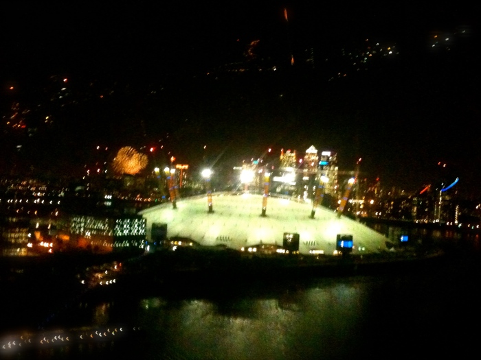 The view from the cable car at night was spectacular on Bonfire Night - spot the fireworks!