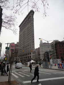 The iconic Flatiron Building, where we got on the Big Bus Tour