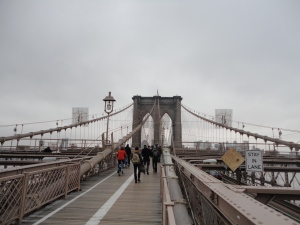 Brooklyn Bridge, where we alighted and got back on the tour