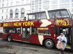 The Big Bus Tour has somewhere to sit whether you like to be out in the elements or inside in the warm