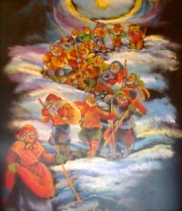 The Yule Lads sneak down from the mountains