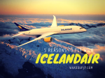 5 reasons to fly with Iceland Air