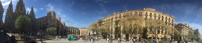 Outside Barcelona Cathedral