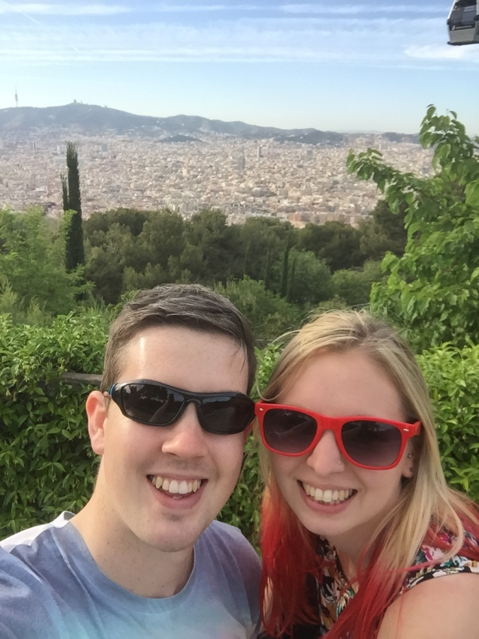 The view across the city from Montjuic