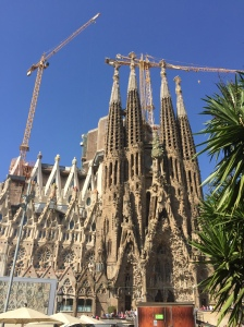 The outside of Sagrada Familia