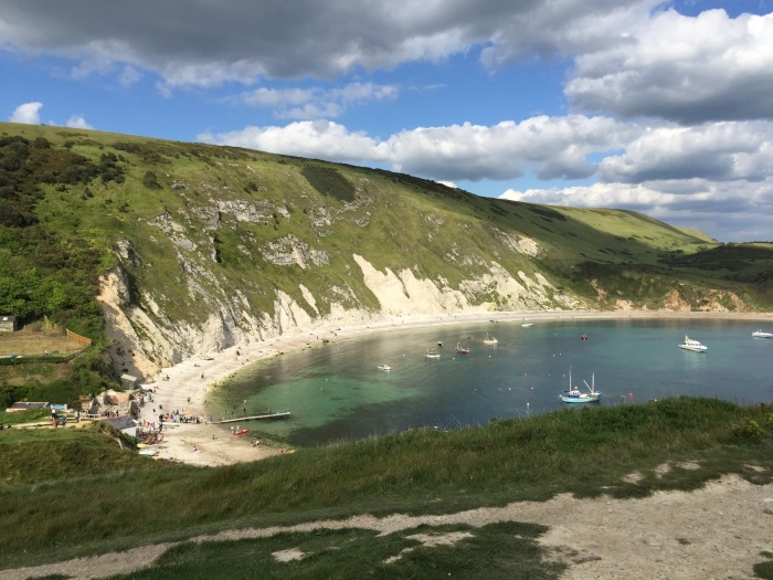 Lulworth Cove in Dorset is stunning in summer