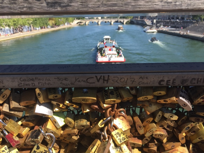 The bridge of love padlocks